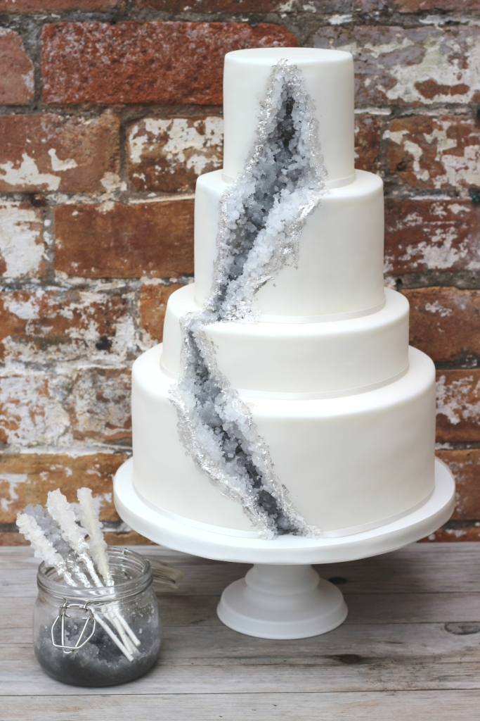 wedding cake with sugar crystals a geode wedding cake a rock recipe sugared 26969