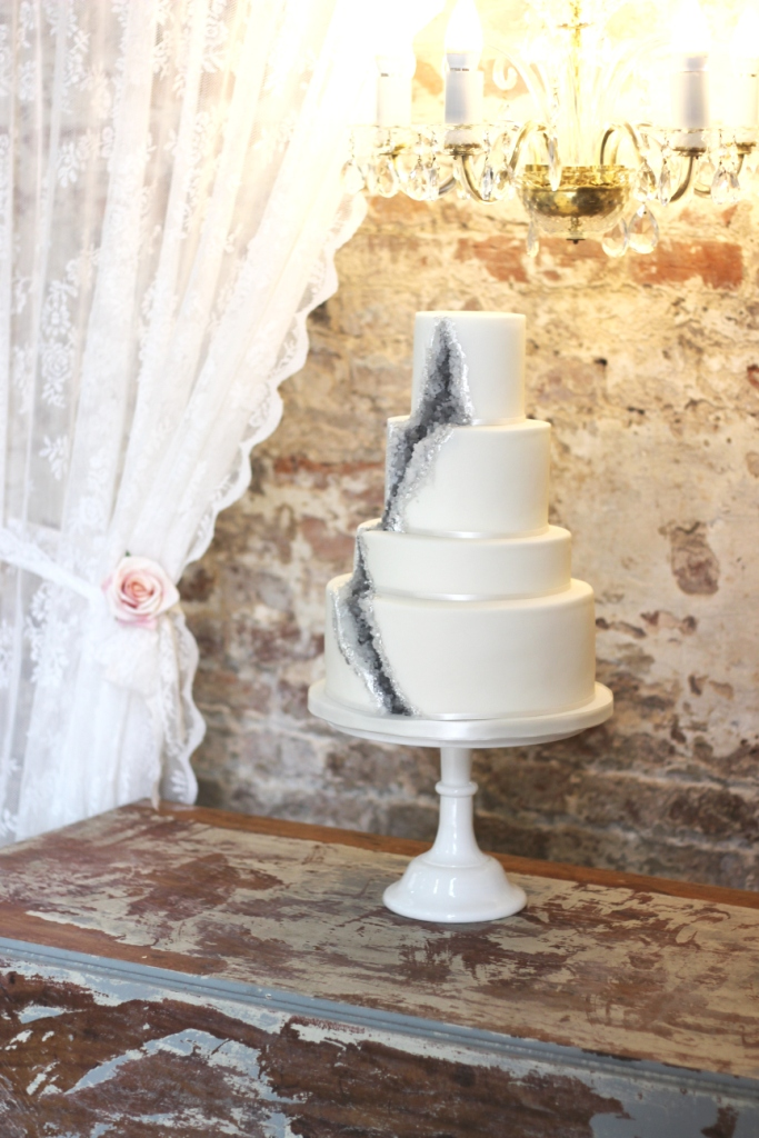 rock candy wedding cakes a geode wedding cake a rock recipe sugared 19244