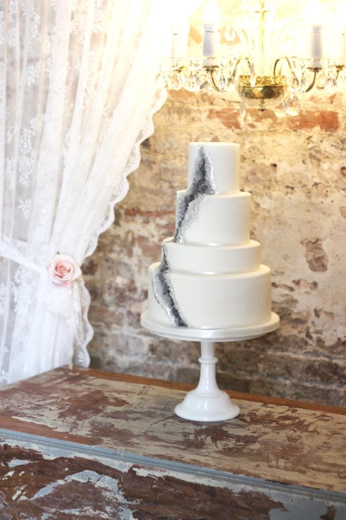 A Geode Wedding Cake