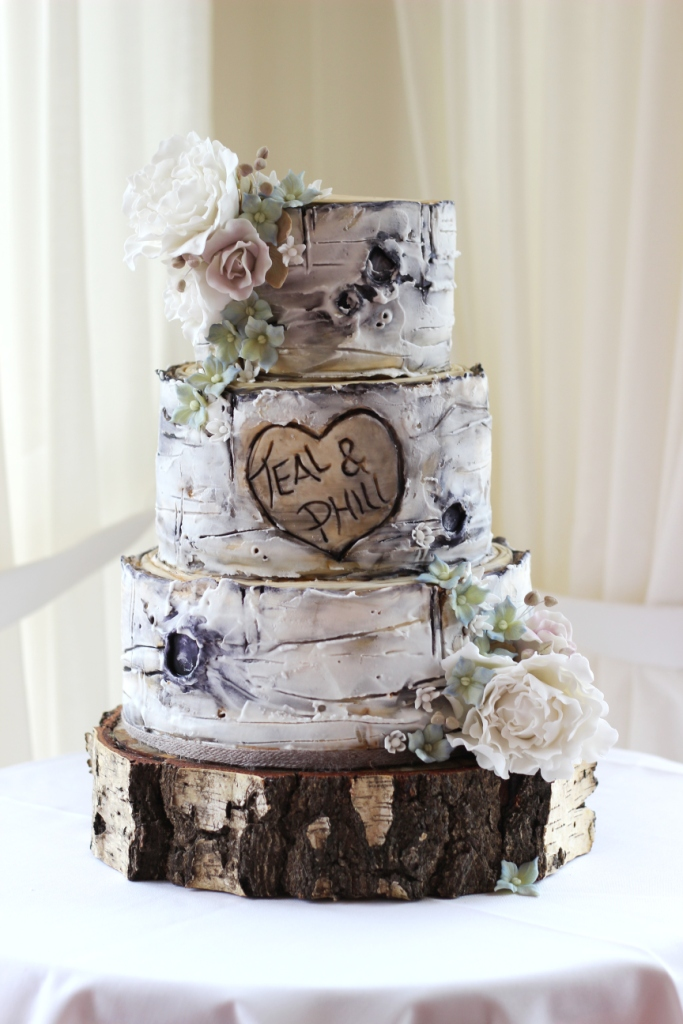 white birch wedding cake a rustic of a wedding teal amp phill 28 11 2015 27231