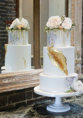 Hayley 2017 Citrine Geode Wedding Cake